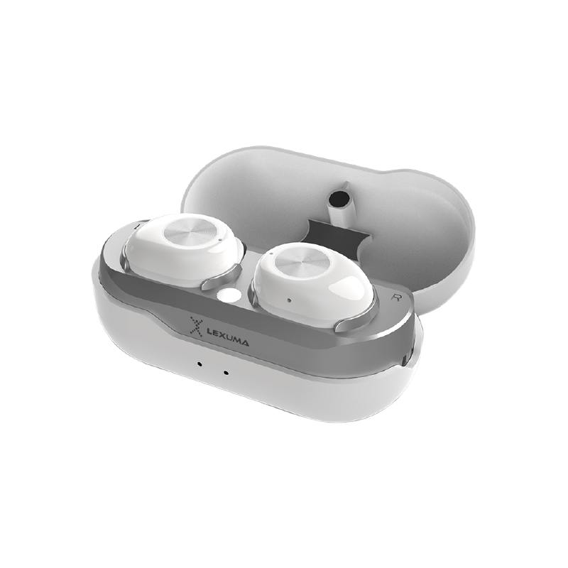 辣數碼 真無線藍牙立體聲耳機連充電盒(白色)