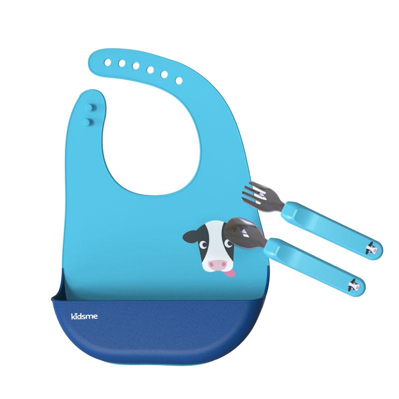 亲亲我Kidsme宝宝吃饭匙具套装 蓝色