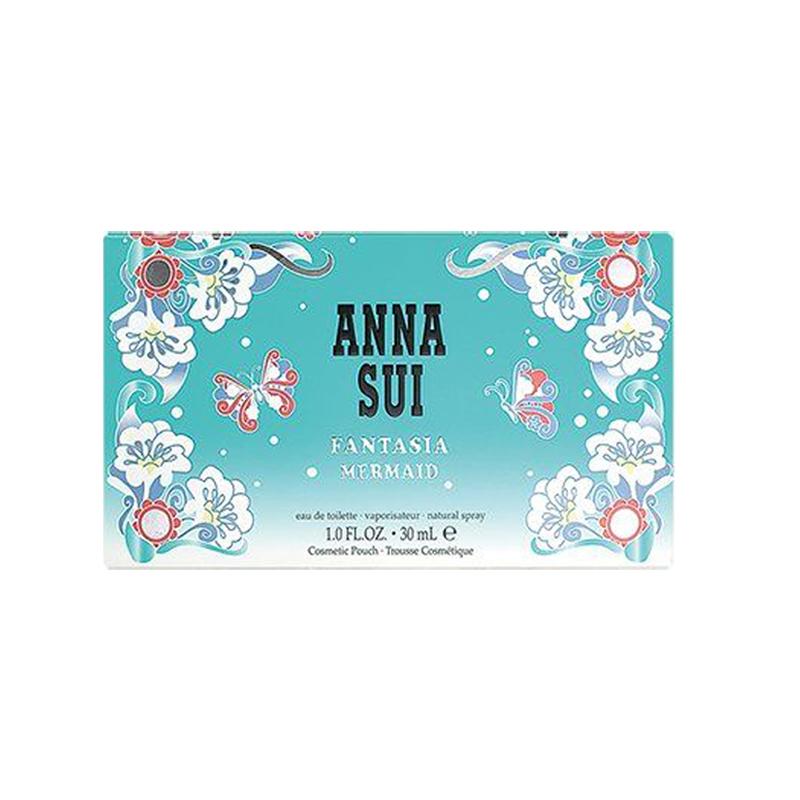 【香港直邮】Anna Sui 安娜苏 筑梦美人鱼淡香水 女士香水 2件套装 30ml香水+化妆包