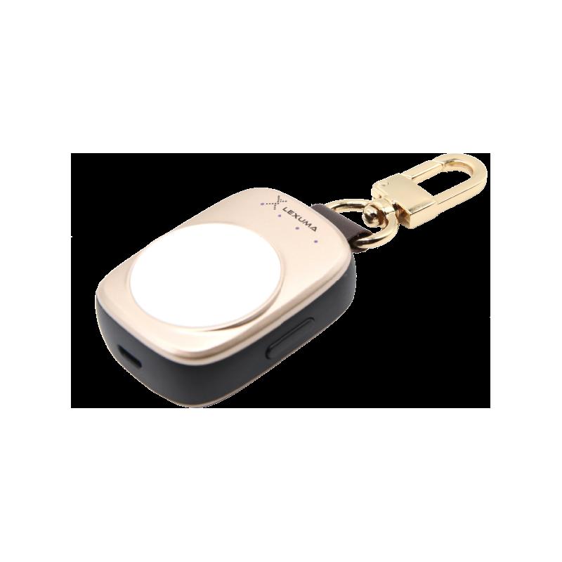 辣數碼 蘋果手錶Apple Watch專用充電器贈送全屏保護鋼化膜(金色)