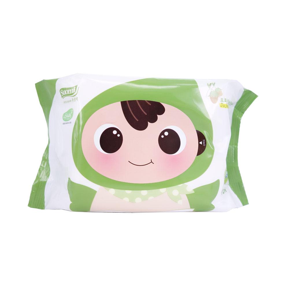 顺顺儿顶级婴儿湿纸巾20片(绿色)  5包